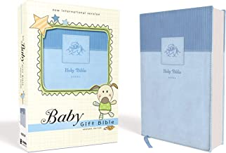 NIV, Baby Gift Bible, Holy Bible, Leathersoft, Blue, Red Letter Edition, Comfort Print: Keepsake Edition