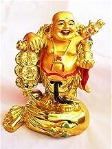 Buycrafty Fengshui يضحك تماثيل بوذا التماثيل منحوتات حمل حقيبة المال تمثال الله الثروة ديكور المنزل، محظوظ والسعادة، هدايا...