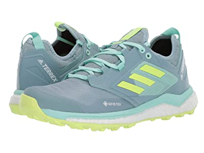 adidas Outdoor Terrex Agravic XT GTX(r) (Ash Grey/Hi-Res Yellow/Clear Mint) Women