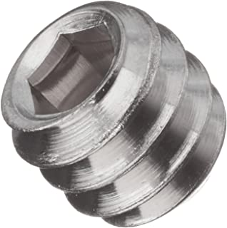 Coarse Thread Square Head Set Screw Cup Point Low Carbon Steel Case Hardened Plain Finish Pk 100 FT 5//16-18 x 1//2