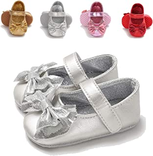 586c21712b43 Sakuracan Infant Baby Girls Mary Jane Flats Non-Slip Soft Soled Toddler  First Walkers Crib