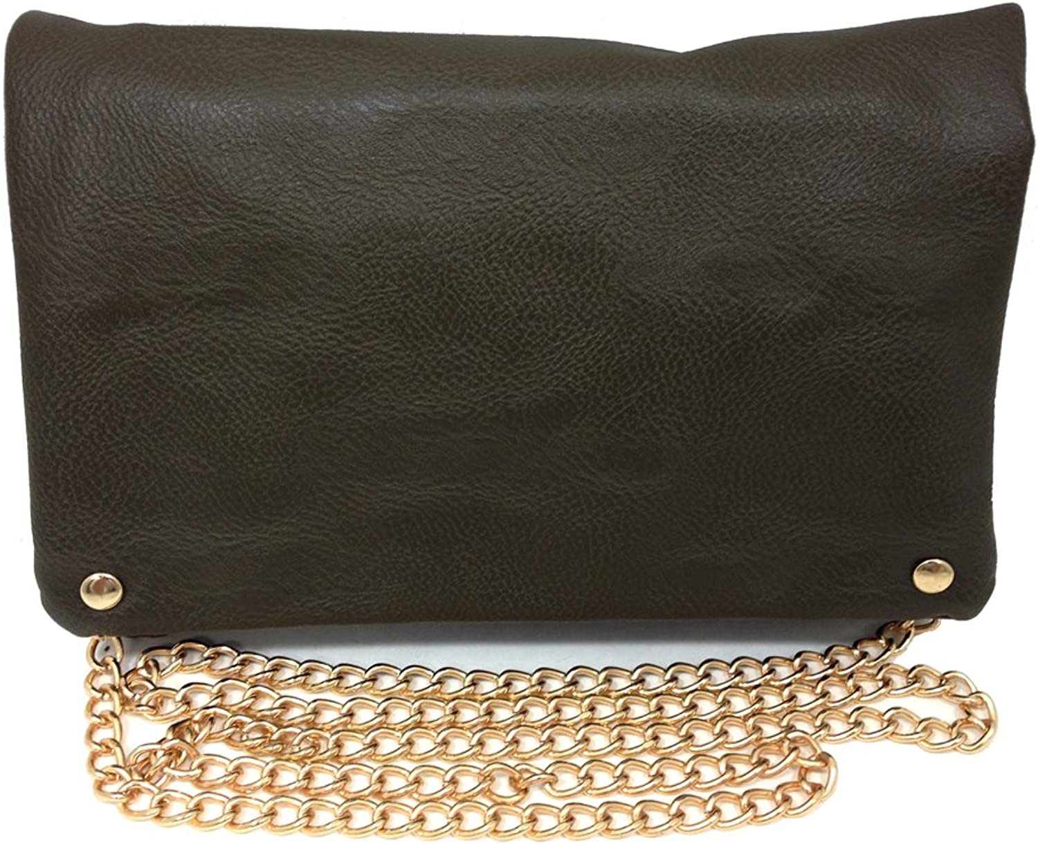 Schonfeld Crossbody Handbag Purse with gold Style Chain Faux Leather