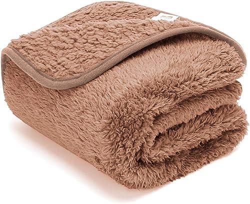 Nobleza – Manta Suave de Felpa para Perros, Gatos y Otras Mascotas. Lavable. Color Marrón, 100 * 80cm