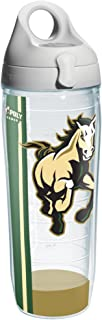 Tervis 1171647 California Poly University Wrap Individual Water Bottle with Gray lid, 24 oz, Clear
