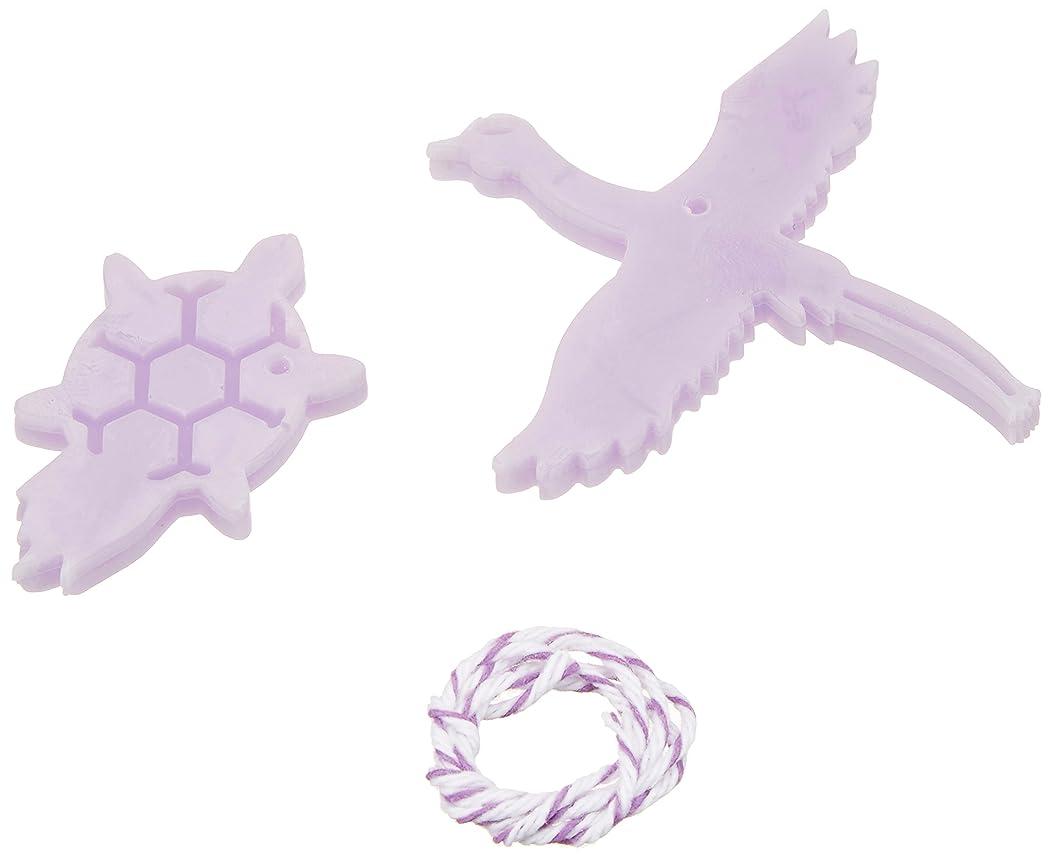 進化する徒歩でタオルGRASSE TOKYO AROMATICWAXチャーム「鶴亀」(PU) ラベンダー アロマティックワックス グラーストウキョウ