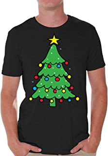 Christmas Tree Men's Shirt Lit Christmas Tree Tshirt