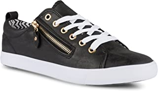 Women's Alley Faux Leather Fashion Sneaker with...