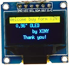 """REES52 6-pin SPI 0.96"""" inch Yellow/Blue Double color OLED display module 12864 SSD1306"""