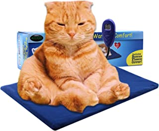 AIICIOO Cat Dog Heat Pad Keep Pets Warm at Night Washable Soft Cover Heat Mat 7 Grade Temperature Control with Chew Resistant Cord Safe and Health