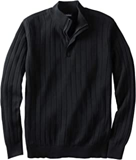 Men's Big & Tall 1/4 -Zip Mock Neck Lightweight Sweater