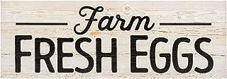 P. Graham Dunn Farm Fresh Eggs White Wash 16 x 6 Inch Solid Pine Wood Plank Wall Plaque Sign