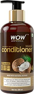 WOW Skin Science Coconut Milk Conditioner - No Parabens, Minerals Silicones & Color -With Dht Blockers, 500mL