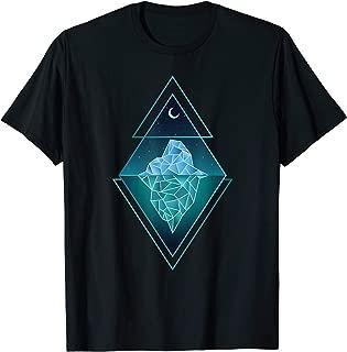 Iceberg T-shirt, Sacred Geometry T-shirt, Moon Over Iceberg T-Shirt