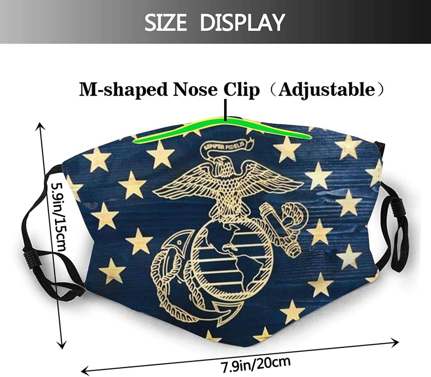 American Flag Face Mask Reusable Washable Balaclavas with 2 Pcs Filters