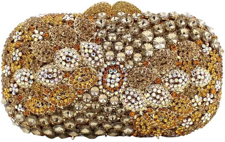 Frauen-Luxuxkristalldiamant-Abendbeutel-Brauthandtasche B0756WTKC3