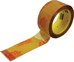 Scotch Printed Message IF SEAL IS BROKEN CHECK CONTENTS Box Sealing Tape 3732 Tan, 48 mm x 50 m, Conveniently Packaged (Pack of 1)