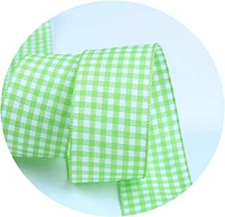 10mm 25mm Lattice Plaid Ribbons Bow Ribbon Gift Wrapping Polyester Ribbon Handmade DIY Accessories,5 Yards/lot,S006,25mm Wide