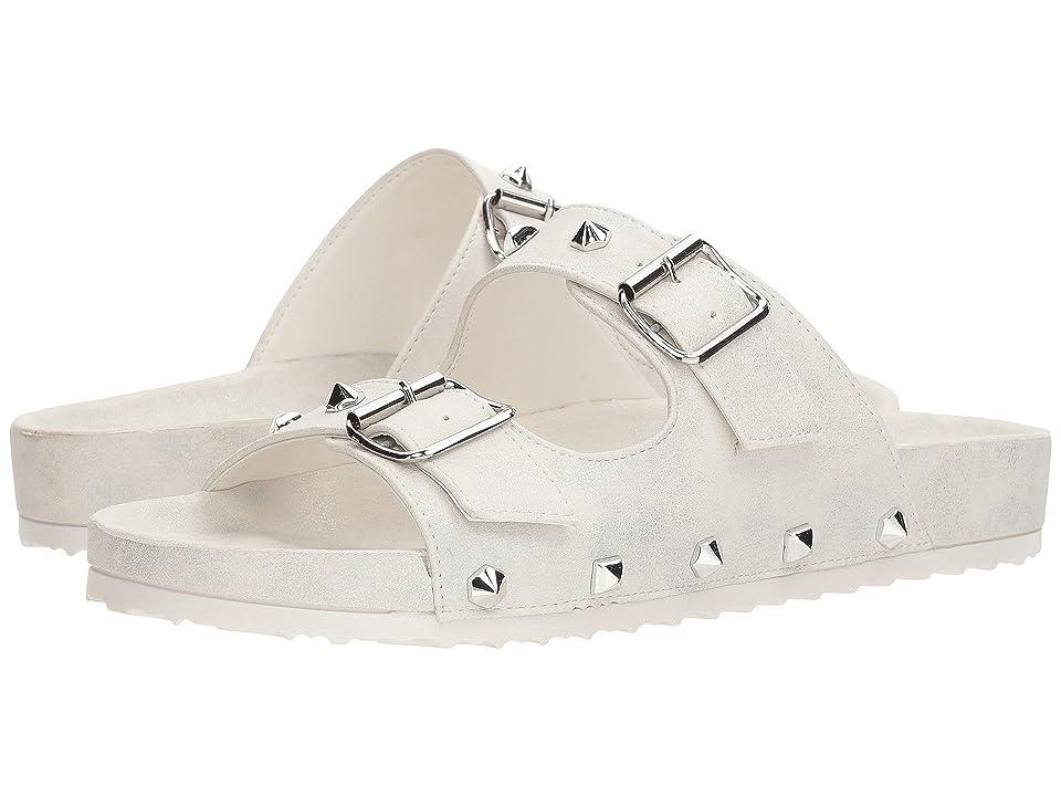 Dirty Laundry Quinn Slide Sandal (White Shimmer) Women