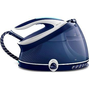 Philips Ferri a vapore Ferro da stiro con caldaia PerfectCare Aqua PRO, Tecnologia OptimalTEMP, Colpo Vapore 440g, Pressione 6.5 bar, 2100 W, 2.5 Litri, Blu/Bianco