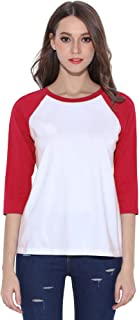 baseball tees 3/4 sleeve