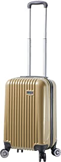 Viaggi Mia Viaggi Italy Lucca Hardside Spinner Carry-on, Champagne (Yellow) - V1047-20IN-CHAN