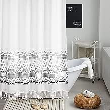 "Uphome Shower Curtain Merge 19.3.1 60""W x 72""H Geometric tassel SC-150x180"