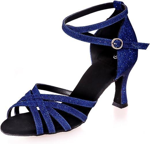 L@YC Chaussures De Danse Latine pour Femmes Open Toe Sandals Plus De Couleurs Peuvent êTre PersonnaliséS Multi-Couleur