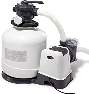 Intex Krystal Clear Sand Filter Pump for Above Ground Pools, 16-inch, 110-120V with GFCI (Renewed)
