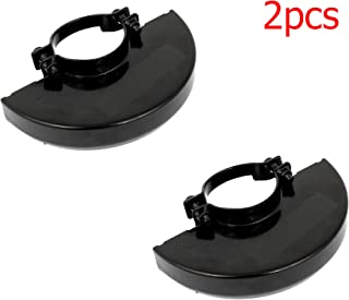 LDEXIN Angle Grinder Metal Safety Guard Protector Wheel Cover 2pcs (Black)