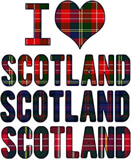I Love Scotland Scotland Scotland: Scottish Notebook Heritage Gifts 100 Page Notebook 8.5x11 Scotland Gifts