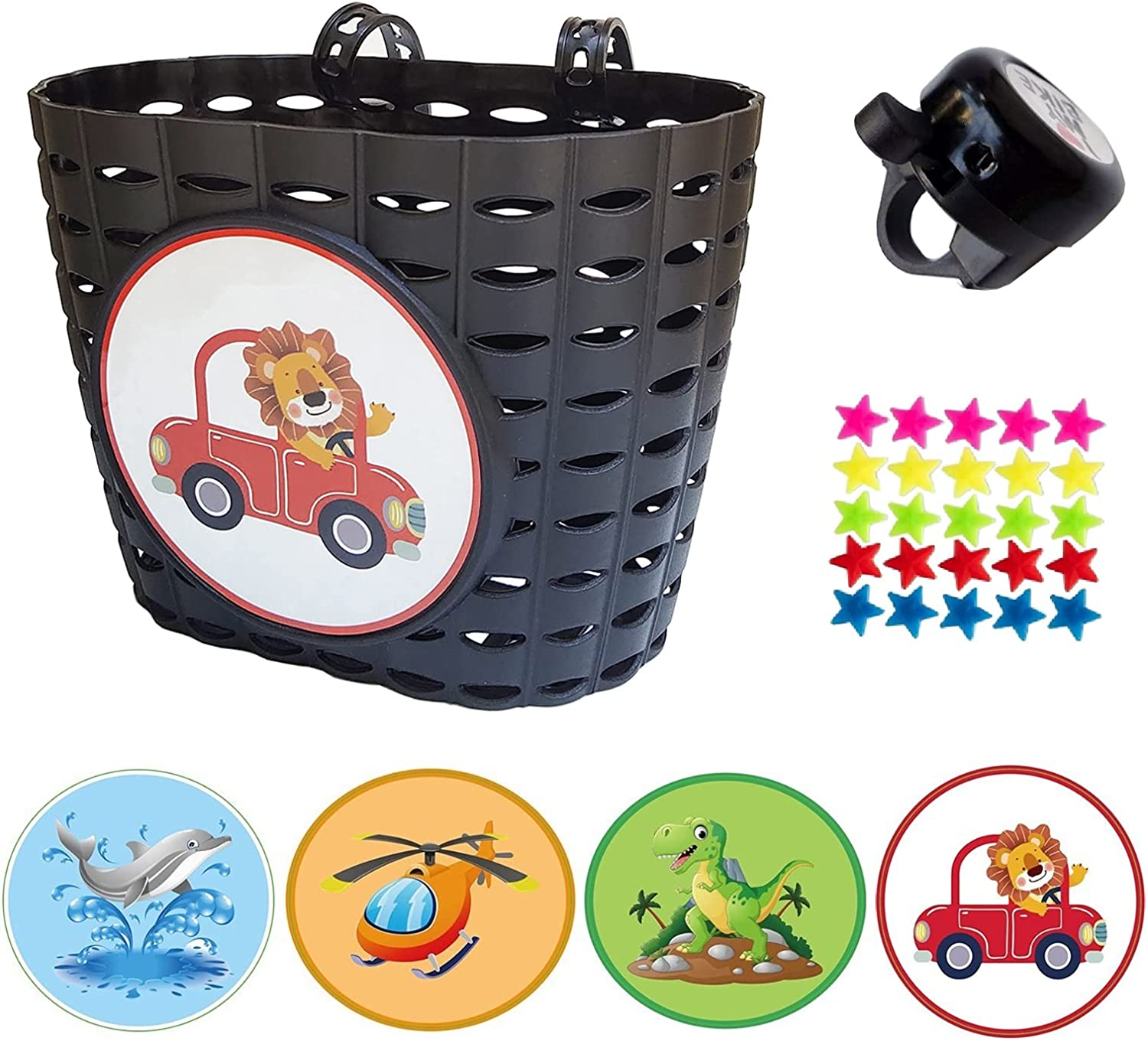Max 59% High quality new OFF Noviko Kids Bicycle Decorations Front Handlebar Bas