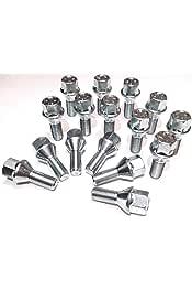 20 tornillos perno de rueda galvanizada m12 1,5 22 cono 60 ° kegelbund sw17 llantas de aluminio