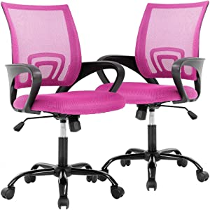 Office Chair Desk Chair Computer Chair Ergonomic Executive Swivel Rolling Chair with Lumbar Support, 2 Pack