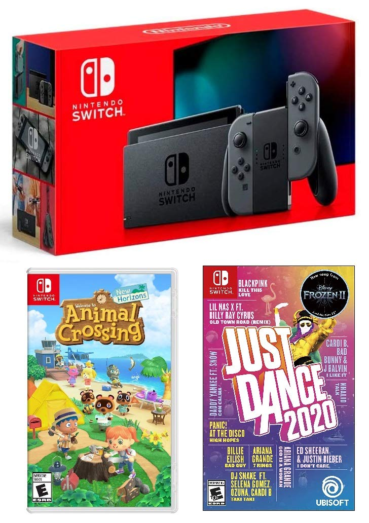 Amazon Com Nintendo Switch Hac 001 With Gray Joy Con Just Dance