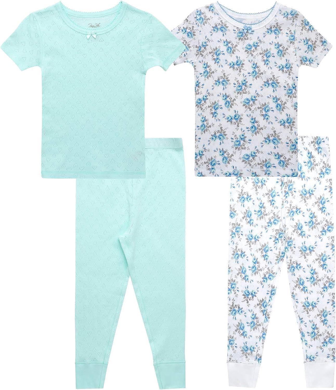 Rene Rofe Baby Girls' Sacramento Mall Fort Worth Mall Pajama Set - Cotton Snug Short 4 Fit Piece