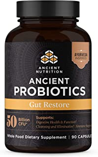 Ancient Nutrition, Ancient Probiotics Gut Restore, 50 Billion CFU, Healthy Digestive Function, Shelf Stable, 90 Capsules