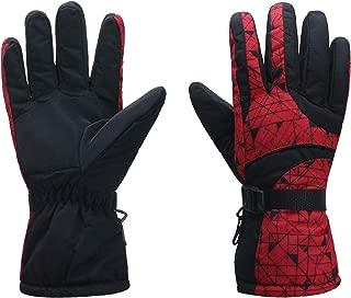 ICOLOR Ski Gloves Snowboard Gloves Winter Warm Ski Golve for Outdoor Sports Skiing Sledding Warm Windproof Bicycle Cycling Snow Snowboarding Snowmobile Golve
