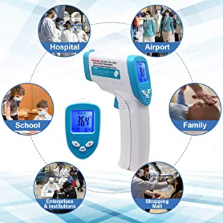WeePro Forehead Thermometer Non-Contact IR Infrared Thermometer Body Infrared Thermometer with 3 Function - Fever Alarm, Over Range Display and 32 Group Data Memory