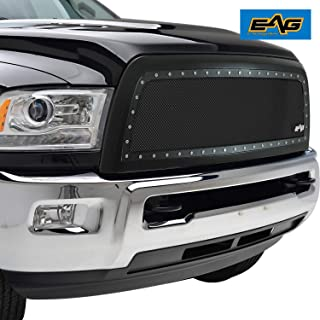 EAG Rivet Stainless Steel Wire Mesh Grille Fit for 2013-2018 Dodge Ram 2500/3500