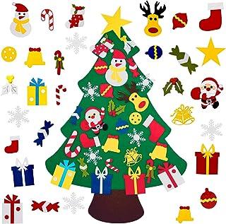 Fayoo DIY Felt Christmas Tree with 30pcs Ornaments, Xmas Gifts for Kids New Year Handmade Christmas Door Wall Hanging Deco...