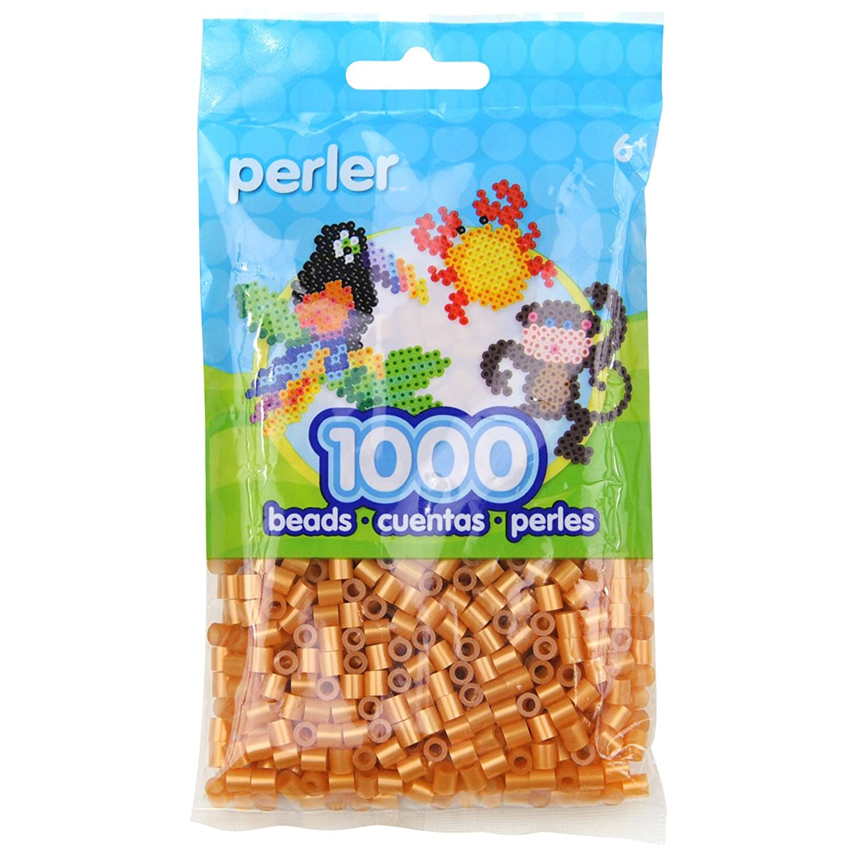 Perler Gold Beads for Kids Crafts, 1000 pcs