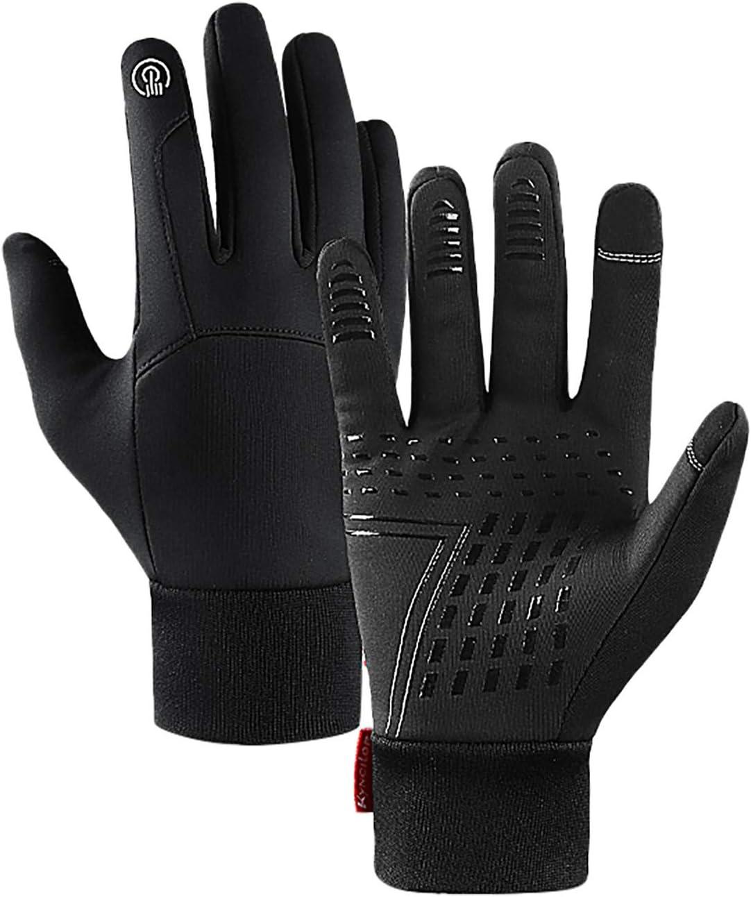 Goutique Winter Ski Gloves for Men Women,Touchscreen Waterproof Keep Warm Waterproof Gloves for Cold Weather Outside,Lightweight Winter Gloves, Warm Water Resistant Touch Screen Gloves for Cycling