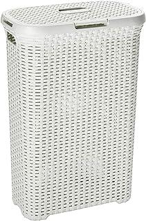 comprar comparacion Curver 193010 - Cesto Natural Style, 40 L, 44 x 26 x 61 cm, color blanco vintage