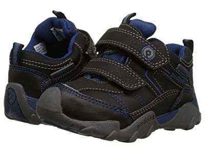 pediped Max Flex (Toddler/Little Kid) (Black/King Blue) Boys Shoes