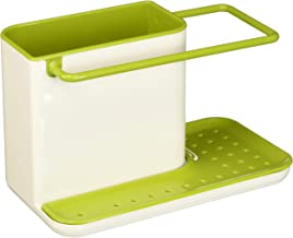 Joseph Joseph 85021 Sink Caddy Kitchen Sink Organizer Holder for Dish Soap Sponge Brush Holder Drains Water Dishwasher-Safe, Regular, Green