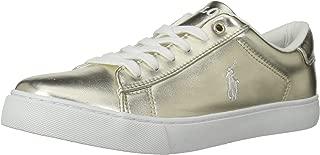 POLO RALPH LAUREN Kids Unisex Easton Sneaker, Gold/Metallic, 3.5 Medium US Big Kid