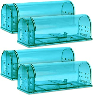 Kat Sense Humane Smart Mouse Traps, Set of 4, Cruelty Free Live Trap, Catch and Release Mice, Chipmunks into The Wild, Ideal No Kill Smart Trapper House Cage for Pest Control Solutions