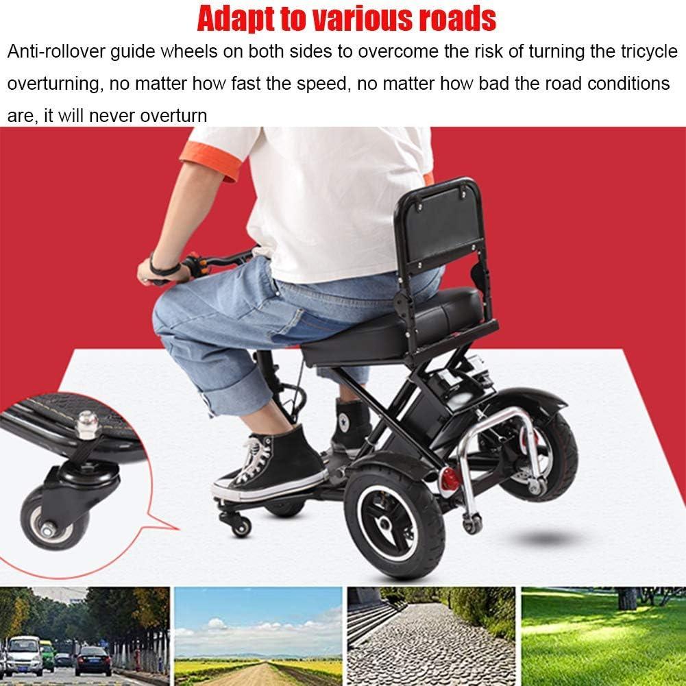 Volwassen lichtgewicht elektrische fiets/opvouwbare elektrische driewieler Met 350w krachtige motor 48v10a lithium batterij Cruising DDLS (Color : Black) Red