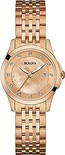 Bulova - Reloj analógico para Mujer de Cuarzo con Correa en Acero 97S112