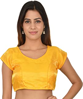 e018bcb87f4c4a Amazon.in: Yellows - Blouses / Ethnic Wear: Clothing & Accessories
